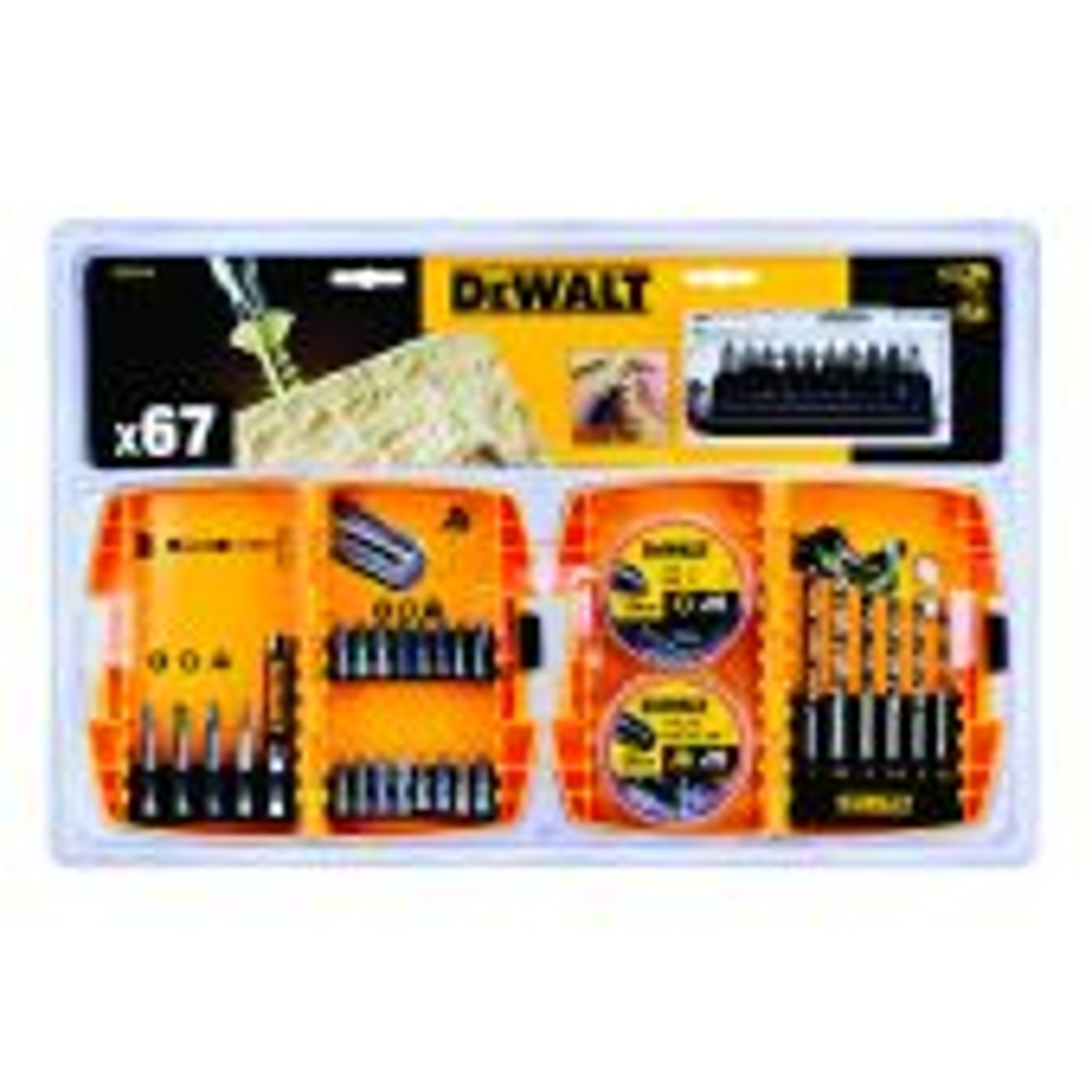 DEWALT DT71515-QZ 67 PIECE DRILLING AND SCREWDRIVING SET