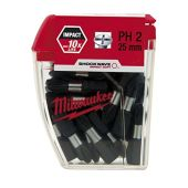 MILWAUKEE SHOCKWAVE 25 X PH2 25MM SCREWDRIVER BITS 4932430853
