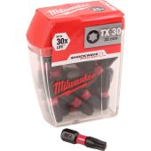 Milwaukee Shockwave Impact Screwdriver Bits TX30 x 25mm