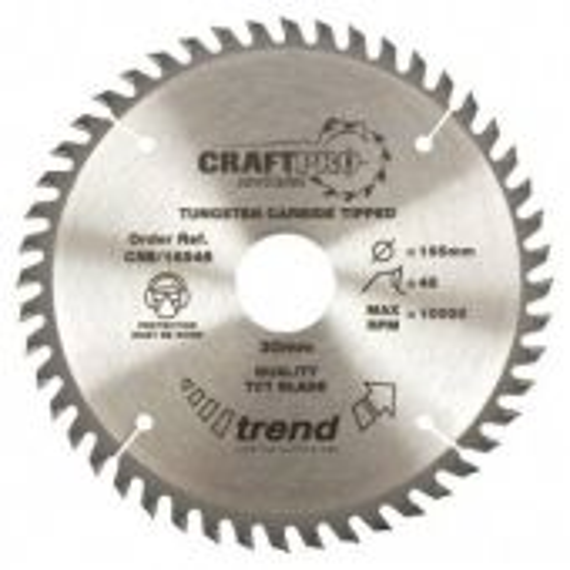 Trend CSB/16540TB Craft Saw Blade - 165mm x 40 Teeth x 30 Thin